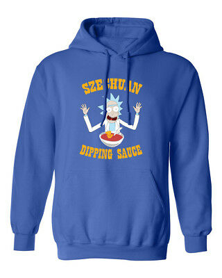 Ricky & Morty Szechuan Dipping Sauce McDonalds Mens & Youth Hooded Sweatshirt