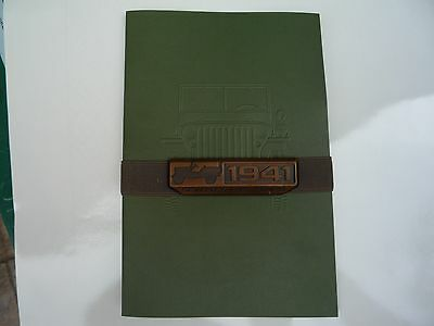 Jeep 75th Anniversary premium brochure with metal 75th emblem- history timeline