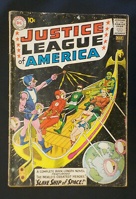 Justice League of America #3 ! DC 1961 ! NICE PGS ! 1 ad page out... hayfamzone