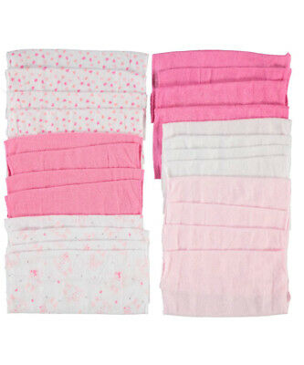 """Mary Jane & Buster """"Floating Hearts"""" 24-Pack Terry Washcloths"""