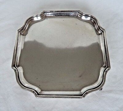 Antique London 1930 290 Gram Sterling / Solid Silver Salver / Tray