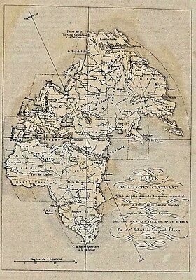 Map of the Ancient Continent - ca. 1749