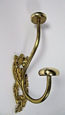 Victorian Ornate Wall Hook: French Antique Coat Rack Hall Tree Ornate Brass