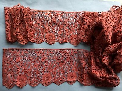 Early 20th C. Deep Machine Lace  Border SEWING Craft COSTUME