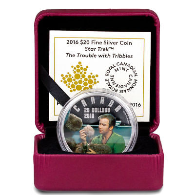 2016 Canada $20 1oz Proof Silver Star Trek Trouble with Tribbles In OGP SKU43341