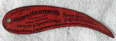 Sextro Furniture Co. Advertising Tin Litho Letter Opener