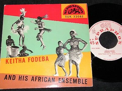 KEITHA FODEBA AND HIS AFRICAN ENSEMBLE ... / 60s Czech SP SUPRAPHON SUK 32085