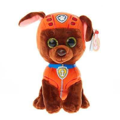 "TY Beanie Baby 6"" Paw Patrol ZUMA the Labrador Plush Stuffed Animal Toy MWMT's"