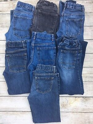 Boys Size 12 Jeans Lot Of 7 Old Navy Gap Cherokee Straight And Bootcut