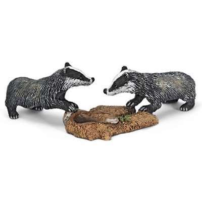 Schleich Wild Animal Figurine - 14651 Badger Cubs - Retired