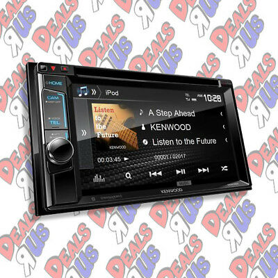 "Kenwood DDX394 In Dash Double Din 6.2"" CD DVD Receiver with Built in Bluetooth"