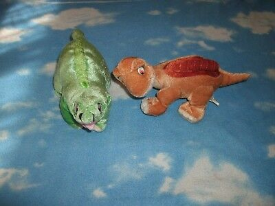 Kellytoy Land Before Time Littlefoot & Spike Plush Stuffed Animals Toys Lot of 2