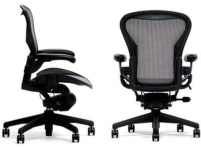 1 Herman Miller Basic Height Adjustable Aeron Home Office Desk Chair Select Size