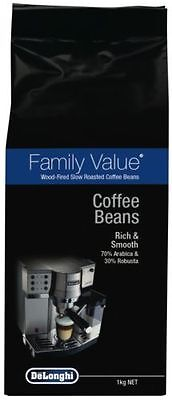 DeLonghi Coffee Beans 1kilo Family Value blend