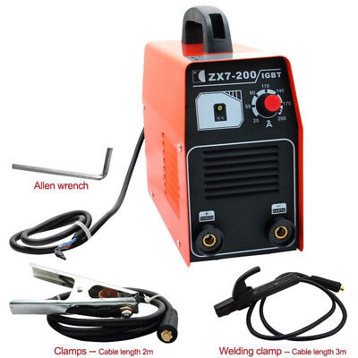 Dual Input 220V 200 AMP STICK/ARC/MMA IGBT DC Inverter Welder Welding Machine US