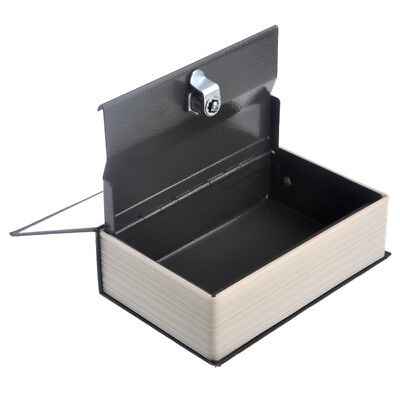 Metal Book Shaped Safe Piggy Bank Safe Money Saving Case Storage Box with Keys