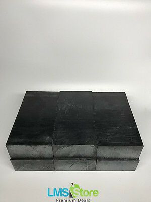"Black Delrin ( Acetal ) Block - 2.90"" x 5.70"" x 1.45"" - 6 block - High Quality"