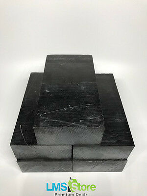 "Black Delrin ( Acetal ) Block - 2.90"" x 5.70"" x 1.45"" - 5 block - High Quality"