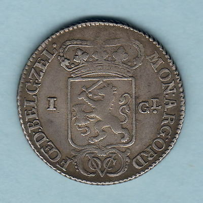Netherlands East Indies. 1791/86 Overdate - 1 Gulden..  VOC..   VF