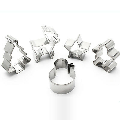 Stainless Steel Christmas Gingerbread Men Cookie Cutters