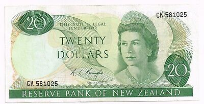1975-77 NEW ZEALAND 20 DOLLARS NOTE - p167c