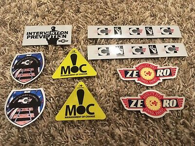 Lot of 9 Coal Mining Stickers and Decals CONSOL