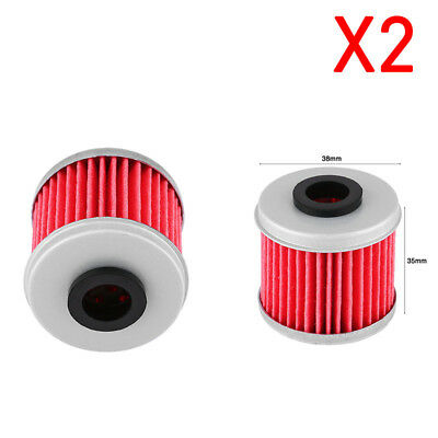 2pcs Motorcycle Oil Filters for Honda CRF150R CRF250R CRF250X CRF450R CRF450X tp