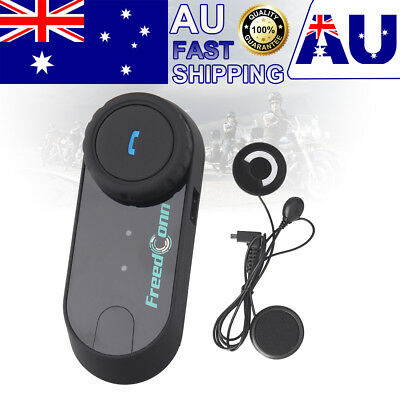 Bluetooth Motorcycle Helmet Intercom BT Motorbike Interphone Soft Headset FM AU