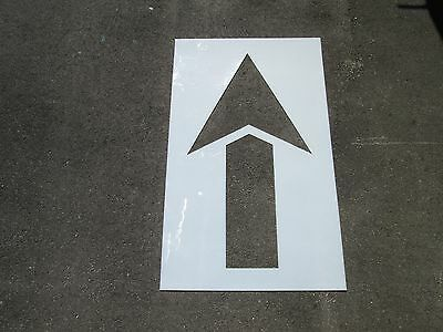 "48"" Straight Parking Lot Arrow Stencil, 1/16"" Re-Usable Flexible LDPE Plastic"
