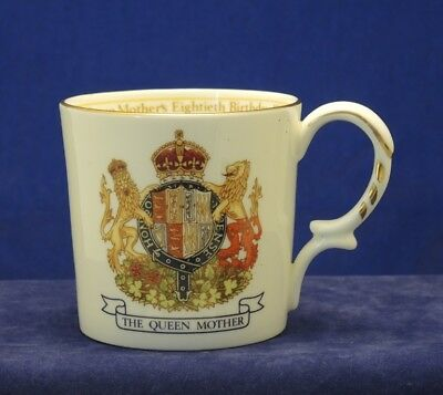 Anysley Mug The Queen Mother'S 80Th Birthday 1980 Family Tree #18