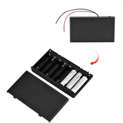 New 8pcs Black Battery Storage Box Case Holder for AA Battery & Power Switch TP