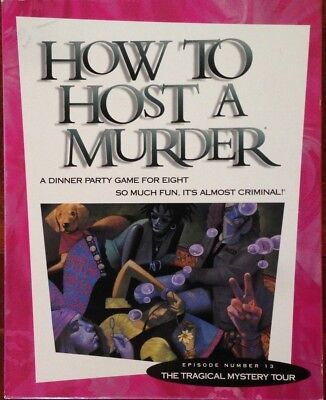How to Host a Murder The Tragical Mystery Tour DINNER PARTY GAME FOR EIGHT No 13