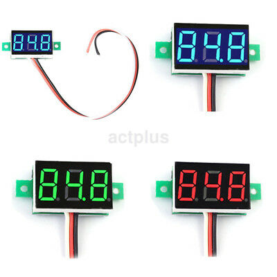 Hot Mini Three Wires Digital Voltmeter DC0-30V LED Diaplay Panel Voltage Meter