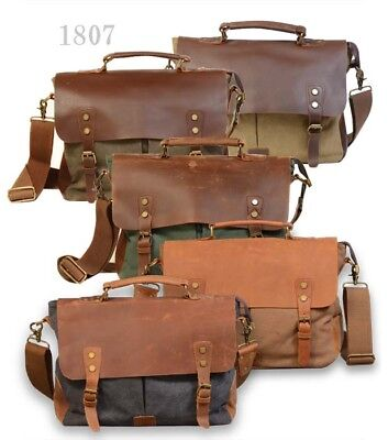 New Handmade leather and Canvas Duffel Weekend overnight Bag for women