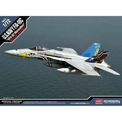 "Academy 1/72 U.S. Navy F/A-18C ""VFA-82 Marauders"" Kit ACA-12534 (New)"