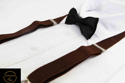 Boys Girls Kids Unisex Clip On Suspenders Adjustable Braces Wedding Boy Pageboy