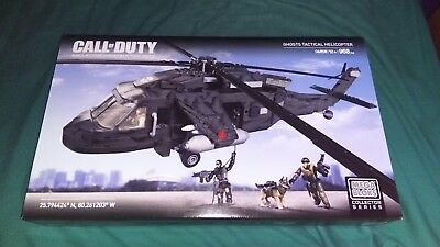 Brand New Call Of Duty Mega Bloks Construx Ghosts Attack Helicopter 968 pieces