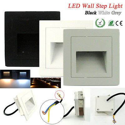 Outdoor 3W LED Recessed Walkway Step Stair Wall Corner Light Lamp 85-265V IP65
