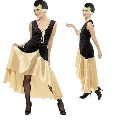 Ladies 1920s 30s Gatsby Girl Flapper Fancy Dress Costume Outfit 16-22 Plus Size