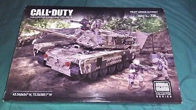 Brand New Call of Duty Mega Bloks Construx Heavy Armor Outpost Tank 726 pieces