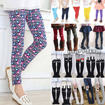 bABY Kid Girl Winter Warm Thick Fleece Leggings Lined Trousers Stretchy Pants