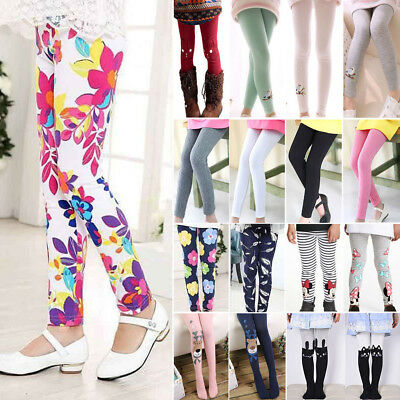 Kids Girl Winter Warm Thick Fleece Leggings Lined Trousers Stretchy Pants Skinny