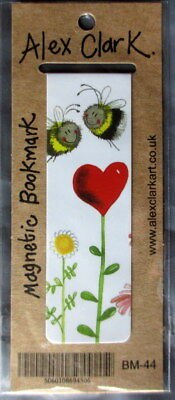 Bumble Bees Love Heart Daisy Small Magnetic bookmark Alex Clark Christmas Gift