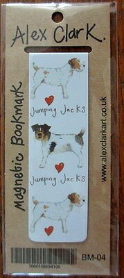 Jumping Jacks Dogs Small Magnetic bookmark Alex Clark Jack Russell Terrier