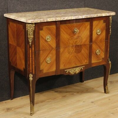 Dresser antique style Transition wooden furniture chest of drawers marble top