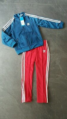 Girls Adidas Originals Tracksuit Jogger Set Pink/blue Ages 5-6 Years Twins Rrp35