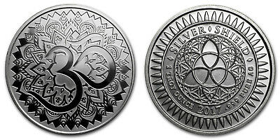 AUM 1 oz .999 Silver Round With COA - Only 3,700 Minted (Reg'd Post)