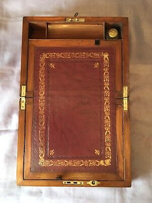 Victorian Writing Slope with Working Lock and Key