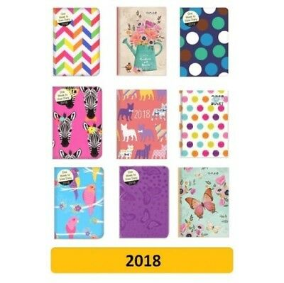 2018 POCKET Diary/Diaries - Week to View (School/Organiser) Design/Patterns