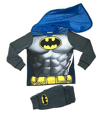 Kids Boys Batman Fancy Dress Up Play Costumes / Pyjamas Pjs Set Size UK 1-8 Year